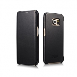 ICARER VINTAGE GALAXY S6 EDGE BLACK