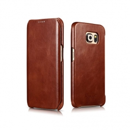 ICARER VINTAGE GALAXY S6 EDGE BROWN
