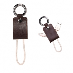 HOCO KEY CHAIN LIGHTNING CABLE 15CM BROWN