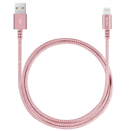 BENKS STURDY MFI LIGHTNING CABLE 100CM ROSE GOLD