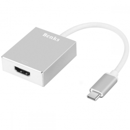 BENKS ADAPTER TYPE-C TO HDMI SILVER