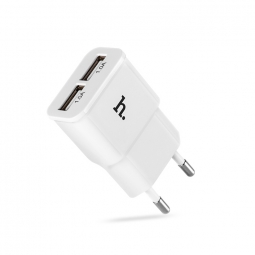 HOCO 2-PORT TRAVEL CHARGER WHITE