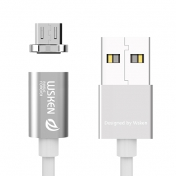 WSKEN X-CABLE MAGNETIC MICRO-USB CABLE SILVER