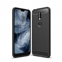 TECH-PROTECT TPUCARBON NOKIA 7.1 BLACK
