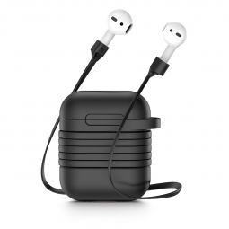 BASEUS AIRPODS CASE & STRAP BLACK