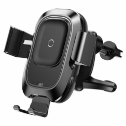 BASEUS VEHICLE VENT CAR MOUNT WIRELESS CHARGER BLACK