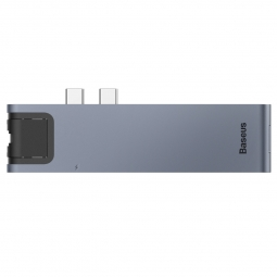 BASEUS L0G ADAPTER TYPE-C TO MULTI PORT 7IN1 GREY