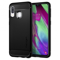 SPIGEN RUGGED ARMOR GALAXY A40 MATTE BLACK