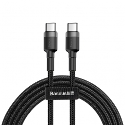 BASEUS PD60W/QC3.0 TYPE-C CABLE 200CM GREY/BLACK