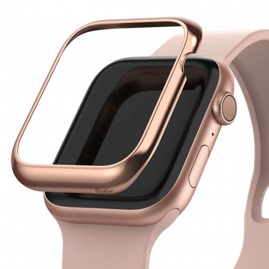 NAKŁADKA RINGKE BEZEL STYLING APPLE WATCH 4/5/6/SE (40MM) GLOSSY PINK GOLD