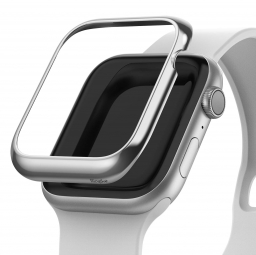RINGKE BEZEL STYLING APPLE WATCH 1/2/3 (42MM) GLOSSY SILVER