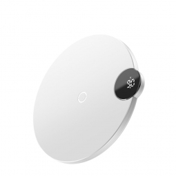 BASEUS DIGITAL LED WIRELESS CHARGER WHITE
