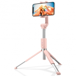 SPIGEN S540W WIRELESS SELFIE STICK TRIPOD PEACH PINK