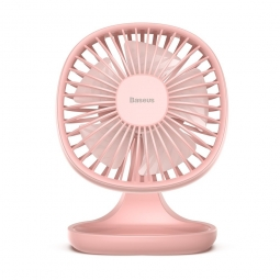 WIATRAK BIURKOWY BASEUS PUDDING SHAPED FAN PINK