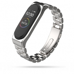 TECH-PROTECT STAINLESS XIAOMI MI BAND 3/4 SILVER