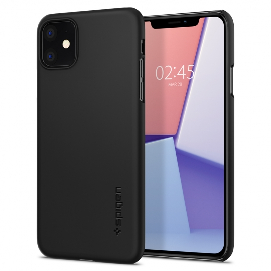 ETUI ETUI SPIGEN SLIM ARMOR CS IPHONE 11 BLACK