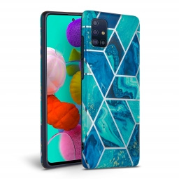TECH-PROTECT MARBLE GALAXY A51 BLUE