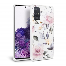 TECH-PROTECT FLORAL GALAXY A51 WHITE