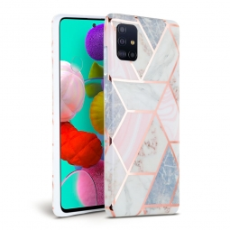 TECH-PROTECT MARBLE GALAXY A71 PINK