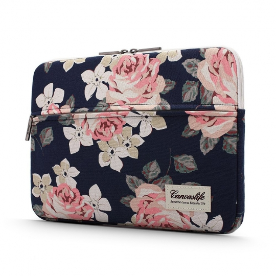ETUI CANVASLIFE SLEEVE LAPTOP 15-16 NAVY ROSE