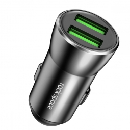 ROCK H8 2-PORT USB CAR CHARGER BLACK