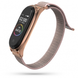 TECH-PROTECT NYLON XIAOMI MI SMART BAND 5 ROSE GOLD