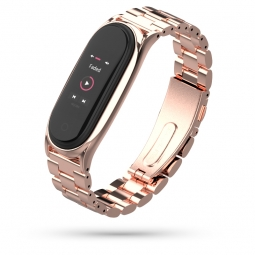 TECH-PROTECT STAINLESS XIAOMI MI SMART BAND 5 ROSE GOLD