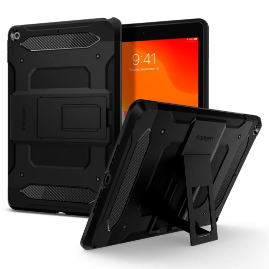 ETUI SPIGEN TOUGH ARMOR TECH IPAD 7/8 10.2 2019/2020 BLACK