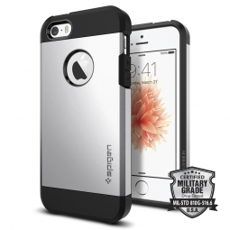 SPIGEN TOUGH ARMOR IPHONE 5S/SE SATIN SILVER