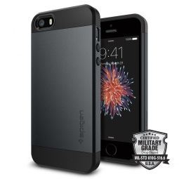 SPIGEN SLIM ARMOR IPHONE 5S/SE METAL SLATE