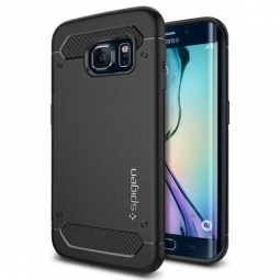 SPIGEN RUGGED ARMOR GALAXY S6 EDGE  BLACK