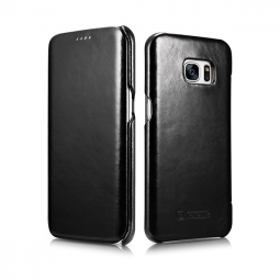 ICARER VINTAGE GALAXY S7 EDGE BLACK