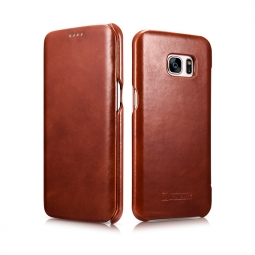 ICARER VINTAGE GALAXY S7 EDGE BROWN