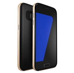 UCASE CARBON FRAME GALAXY S7 EDGE GOLD