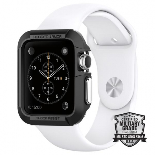 ETUI SPIGEN SGP RUGGED ARMOR APPLE 1/2 WATCH (42MM) BLACK