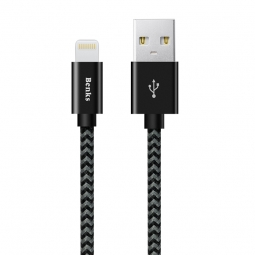 BENKS AMBER MFI LIGHTNING CABLE 180CM BLACK