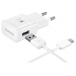 SAMSUNG TRAVEL ADAPTER + TYPE-C CABLE WHITE