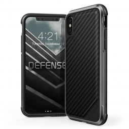 X-DORIA DEFENSE LUX IPHONE X/10 BLACK CARBON