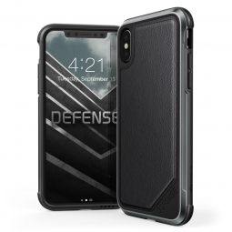 X-DORIA DEFENSE LUX IPHONE X/10 BLACK LEATHER
