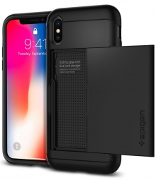 SPIGEN SLIM ARMOR CS IPHONE X/10 BLACK