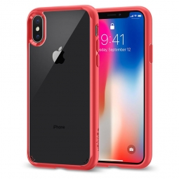 SPIGEN ULTRA HYBRID IPHONE X/10 RED