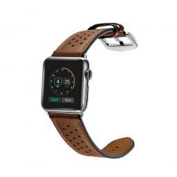 TECH-PROTECT LEATHER APPLE WATCH 1/2/3/4 (42/44MM) BROWN