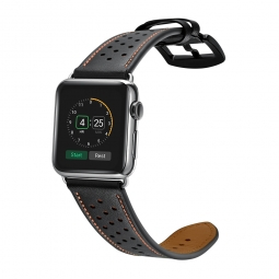 TECH-PROTECT LEATHER APPLE WATCH 1/2/3 (42MM) BLACK