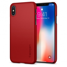 SPIGEN THIN FIT IPHONE X/10 METALLIC RED