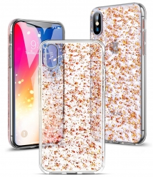 ESR SPARKLY GLITTER IPHONE X/10 PINK GOLD