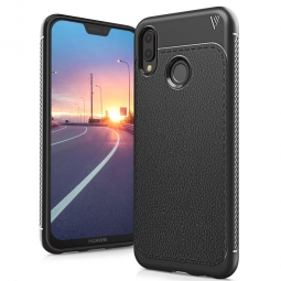 TECH-PROTECT TPULEATHER HUAWEI P20 LITE BLACK