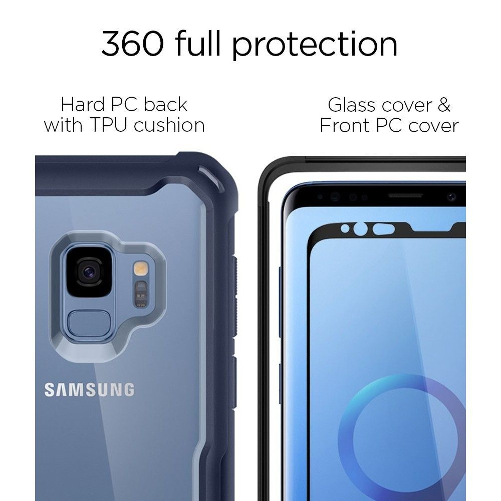 purchase cheap 8938d 07a27 SPIGEN HYBRID 360 GALAXY S9 DEEPSEA BLUE