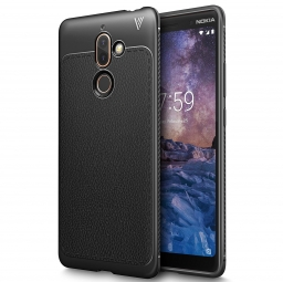 TECH-PROTECT TPULEATHER NOKIA 7 PLUS BLACK