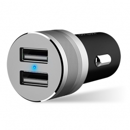 ROCK SITOR PLUS 2-PORT USB CAR CHARGER BLACK