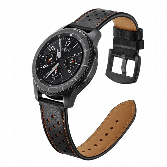 PASEK TECH-PROTECT LEATHER SAMSUNG GEAR S3 BLACK